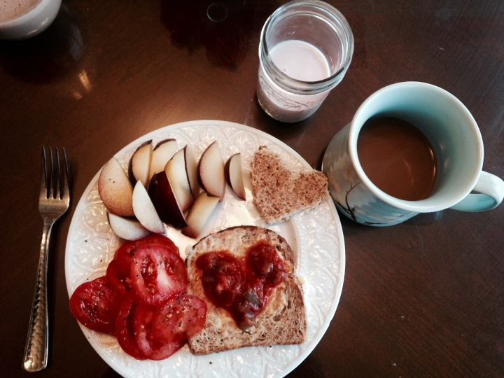 healthy breakfast coffee self love cheat day