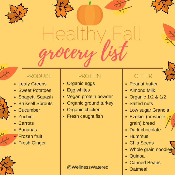 Healthy Fall Grocery List