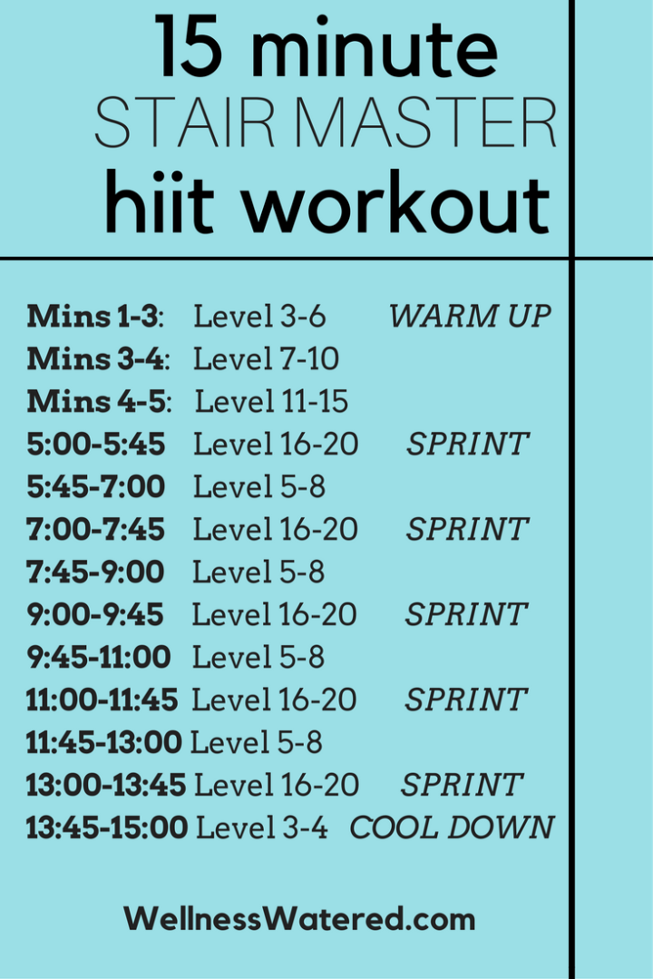 Quick 15 minute Stairs hiit workout