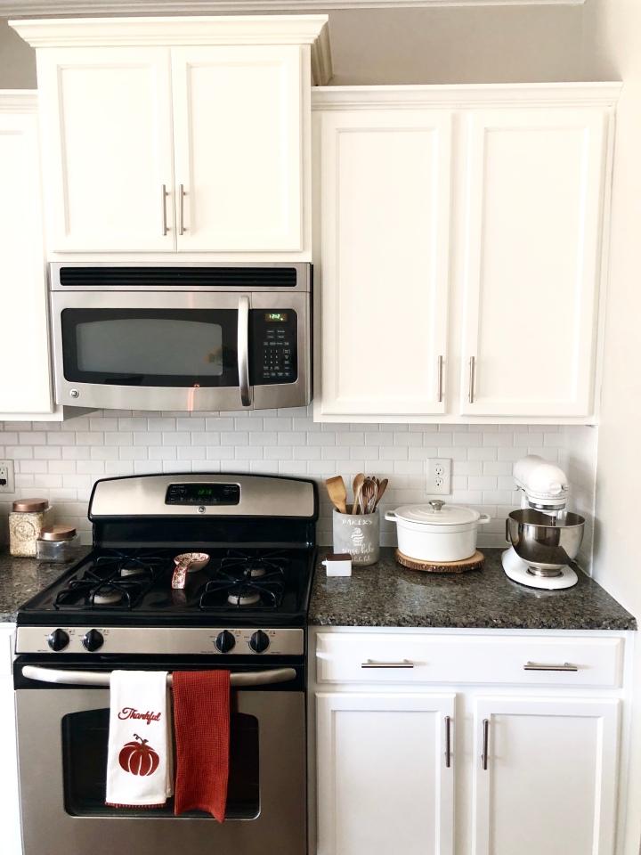 white kitchen white subway tiles white cabinets granite counter tops kitchen remodel kitchen decor
